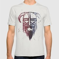 Brutal Viking Mens Fitted Tee Silver SMALL