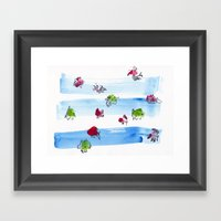 Ocean Fish Framed Art Print