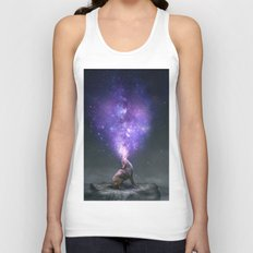 All Things Share the Same Breath (Coyote Galaxy) Unisex Tank Top