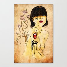Portrait - asian woman Canvas Print