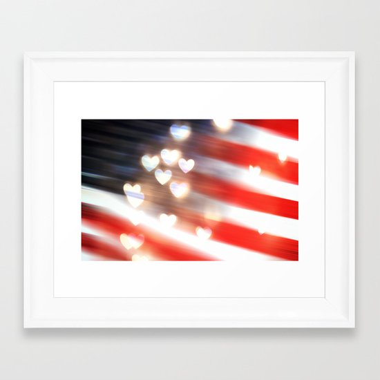 A Love as Big as America Framed Art Print