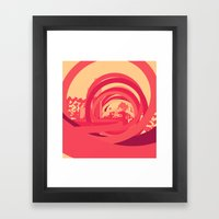 Red 1 Framed Art Print
