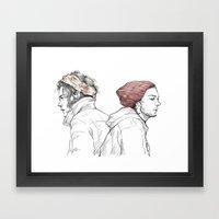Rose and Dagger Framed Art Print