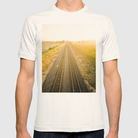 Central California  Mens Fitted Tee Natural SMALL