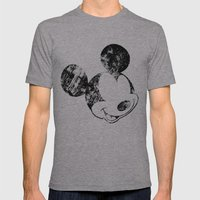 Mickey Grunge Mens Fitted Tee Athletic Grey SMALL