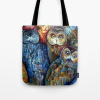 Town Owls Tote Bag
