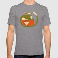 TAIL HUG Mens Fitted Tee Tri-Grey SMALL