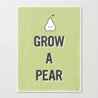 Grow A Pear Canvas Print