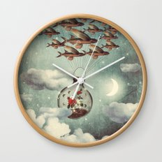 The Rose That Wanted to See the World Wall Clock