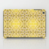 Random rope on gold foil iPad Case