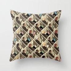 Cubicles Throw Pillow