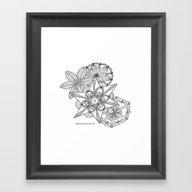 Vermont Zentangle Snow F… Framed Art Print