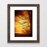 Misty Sunset Framed Art Print