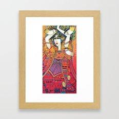 DANCER WITH DOVES Framed Art Print