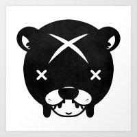 Bear Suit Art Print