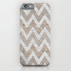 White Gold Chevron iPhone 6 Slim Case
