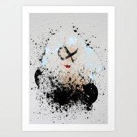 The Black Kitty Art Print