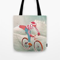 rushing home for christmas Tote Bag