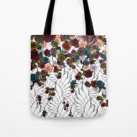 falling flowers Tote Bag