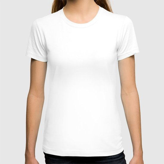 Patterned Plumes - White T-shirt