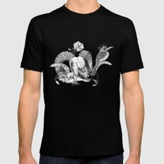 The ramskull and bird SMALL Black Mens Fitted Tee