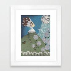 Soon, soon, Winter Moon! Framed Art Print