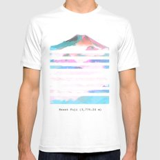 Mount Fuji SMALL Mens Fitted Tee White