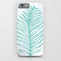 Palm Leaf In Blue And Gr… iPhone 6 Slim Case