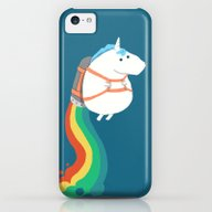 Fat Unicorn On Rainbow J… iPhone 5c Slim Case