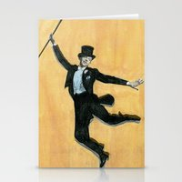 top hat and tails Stationery Cards