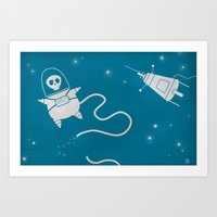 Dead in Space Art Print