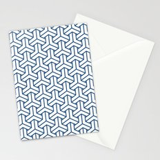 bishamon in monaco blue Stationery Cards
