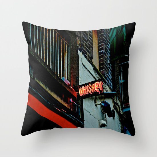 Back Alley Whiskey Throw Pillow