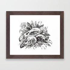 Skull Pile Framed Art Print