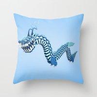 Dragon-Air Throw Pillow