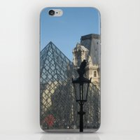 The Raven and The Louvre iPhone & iPod Skin