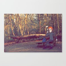Smoking Bench Canvas Print