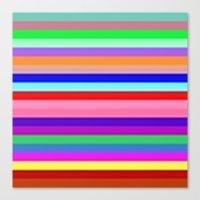 Flagged Canvas Print