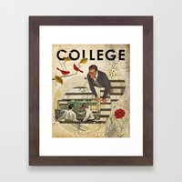 Welcome to... College Framed Art Print