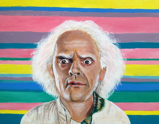 """Great Scott"" Doc Brown Art Print"