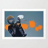 Paintball  Art Print