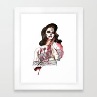 Bloody Lana  Framed Art Print