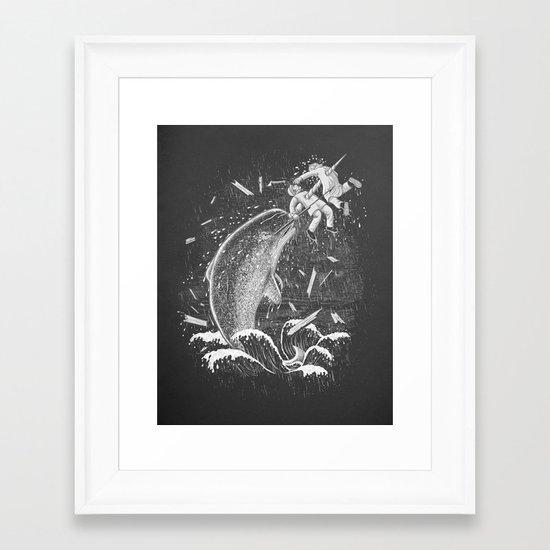 Narwhal Skewer Framed Art Print