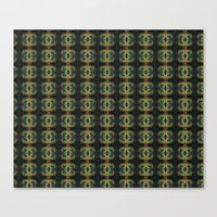 Peacock Bead Abstract Canvas Print