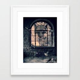 Framed Art Print - FOX AND BIRDS - dada22