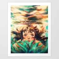 Art Print featuring The River by Alice X. Zhang