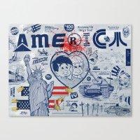 Thanks America / Where Freedom Begins Canvas Print