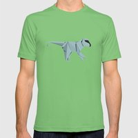 Origami Monkey Mens Fitted Tee Grass SMALL