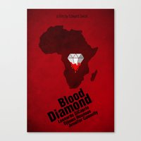 Blood Diamond Poster Canvas Print