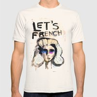 LET'S FRENCH!  Mens Fitted Tee Natural SMALL